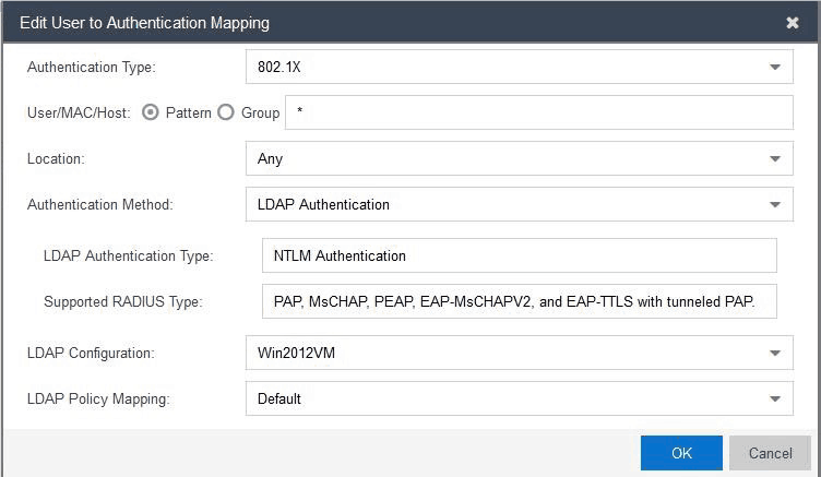 Configuring the Authentication Mapping settings