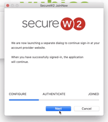 Initiate the login page for macOS