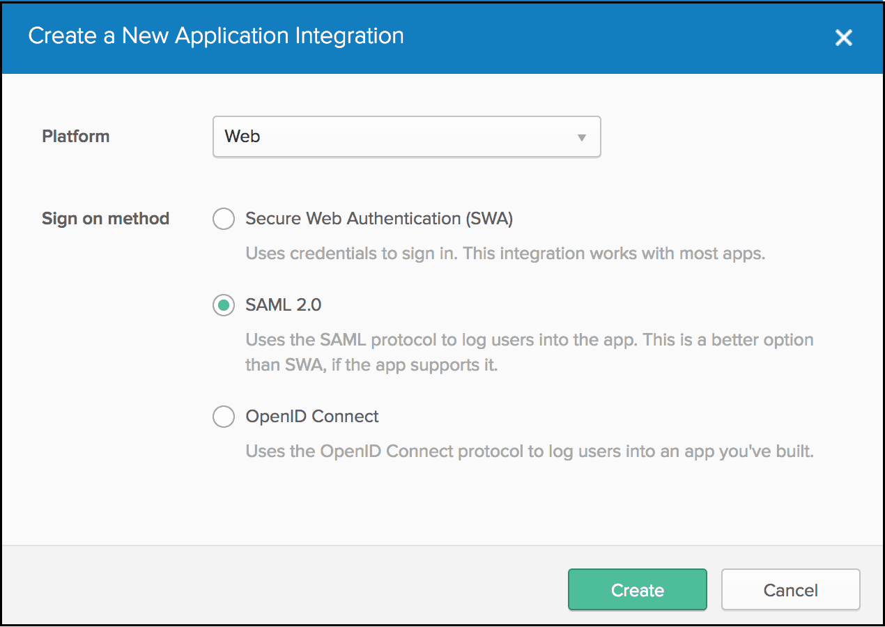 Create New Application Integration